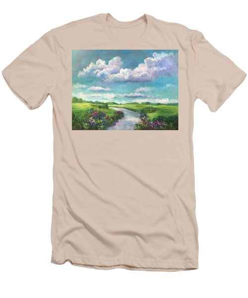 Beneath The Clouds Of Paradise Men's T-Shirt (Slim Fit) by Randy Burns