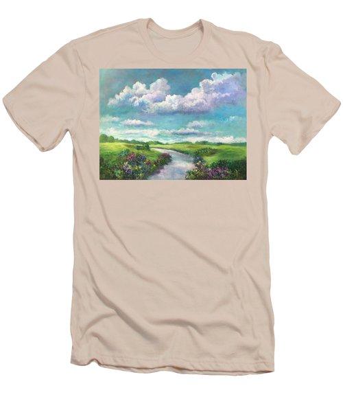 Beneath The Clouds Of Paradise Men's T-Shirt (Slim Fit)