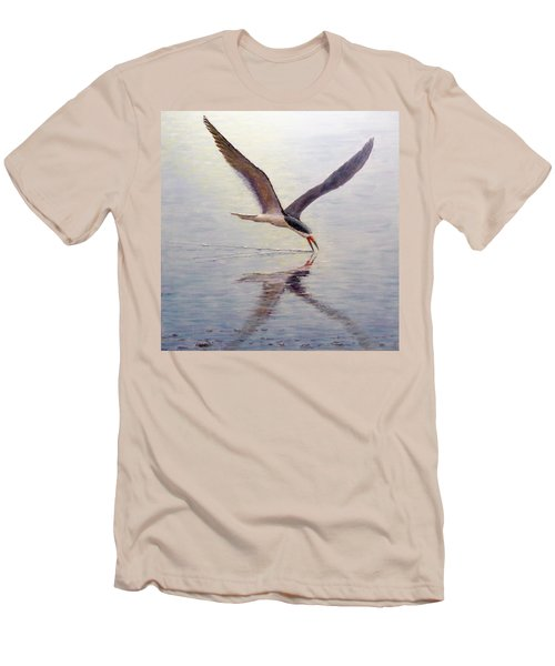 Black Skimmer Men's T-Shirt (Slim Fit) by Joe Bergholm
