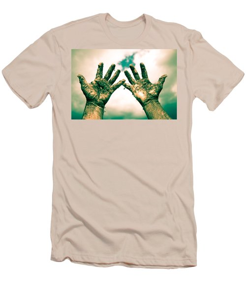 Beseeching Hands Men's T-Shirt (Athletic Fit)