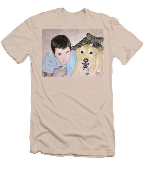 Best Buddies Men's T-Shirt (Slim Fit) by Maris Sherwood