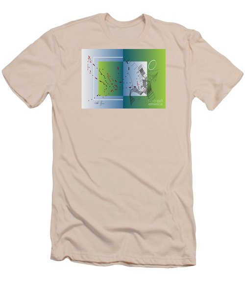 Men's T-Shirt (Slim Fit) featuring the digital art Between Heaven And Me by Leo Symon