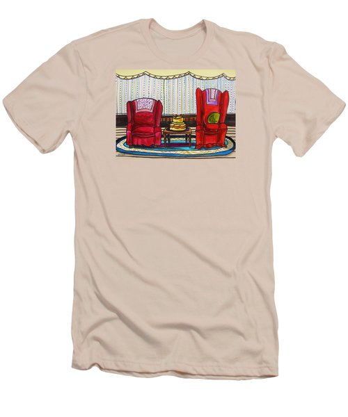 Between Two Reds Men's T-Shirt (Slim Fit) by John Williams