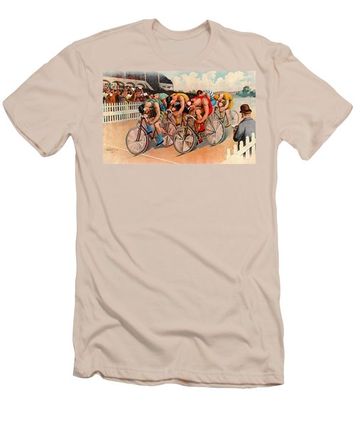 Bicycle Race 1895 Men's T-Shirt (Slim Fit) by Padre Art