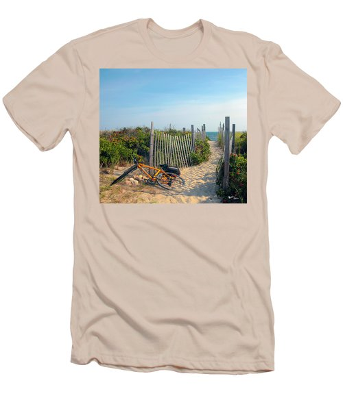 Men's T-Shirt (Slim Fit) featuring the photograph Bicycle Rest by Madeline Ellis