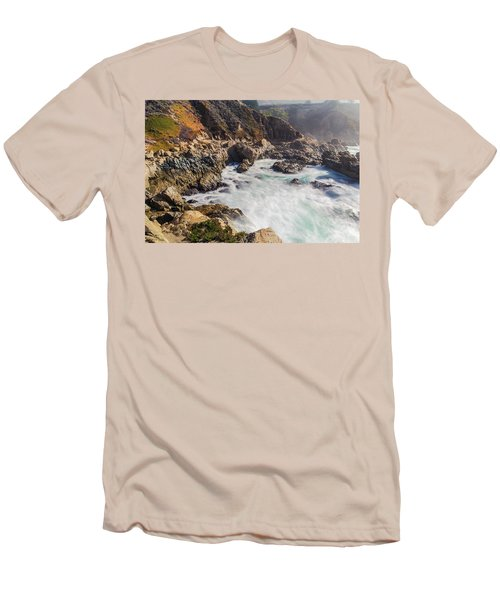 Men's T-Shirt (Athletic Fit) featuring the photograph Big Sur Coastline View Point by Jingjits Photography