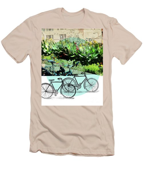 Bike Poster Men's T-Shirt (Slim Fit) by Deborah Nakano