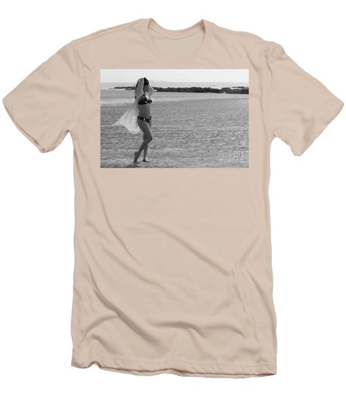Bikini Girl Men's T-Shirt (Slim Fit) by Kiran Joshi