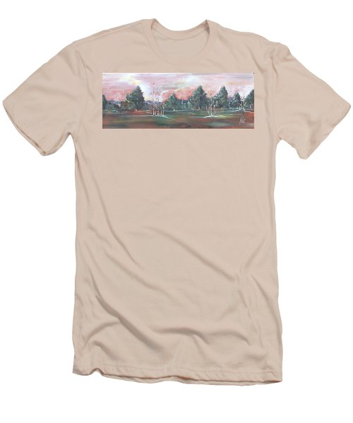 Men's T-Shirt (Slim Fit) featuring the painting Birch Grove by Pat Purdy
