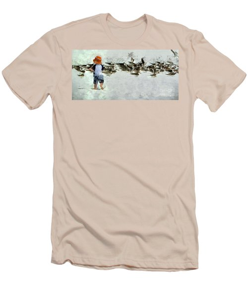 Bird Play Men's T-Shirt (Athletic Fit)