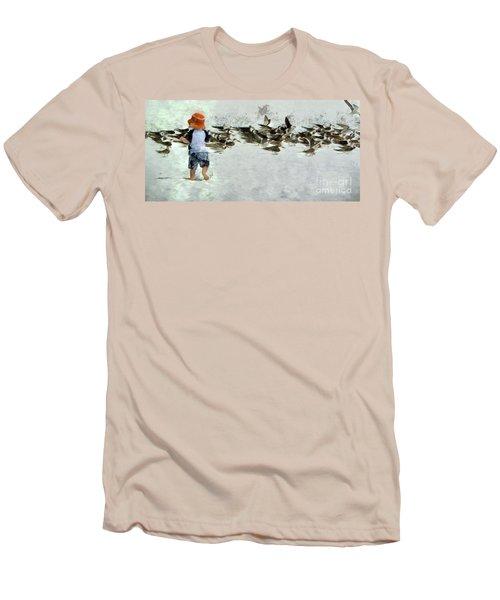 Bird Play Men's T-Shirt (Athletic Fit)