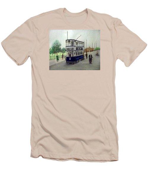 Birmingham Tram With Figures Men's T-Shirt (Athletic Fit)
