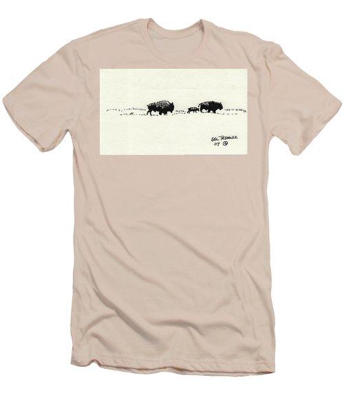 Bison Family Men's T-Shirt (Slim Fit) by Eric Tressler