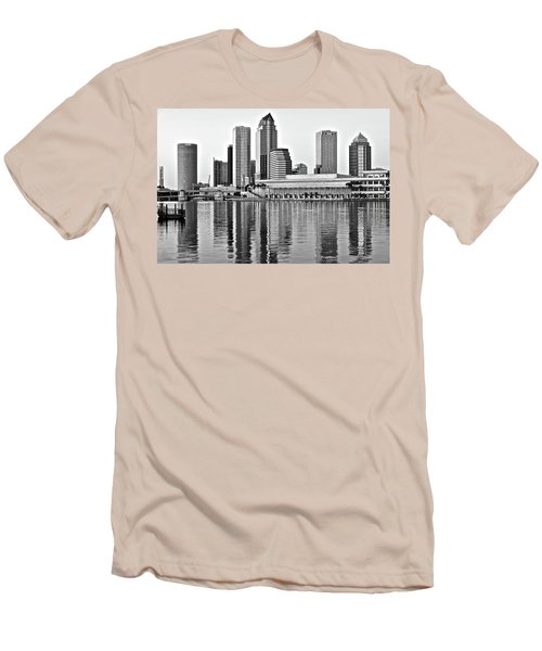 Black And White In The Heart Of Tampa Bay Men's T-Shirt (Slim Fit) by Frozen in Time Fine Art Photography