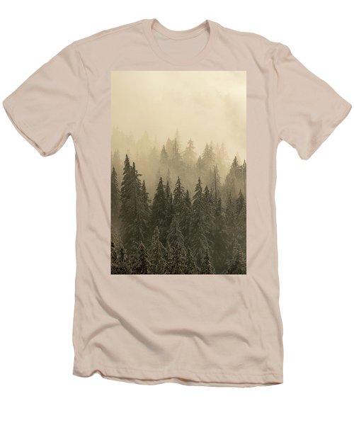 Blanket Of Back-lit Fog Men's T-Shirt (Slim Fit) by Dustin LeFevre