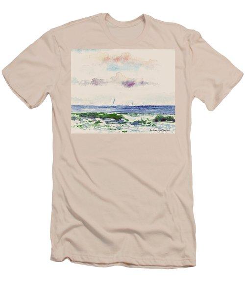 Block Island Sound Men's T-Shirt (Slim Fit) by Joan Hartenstein