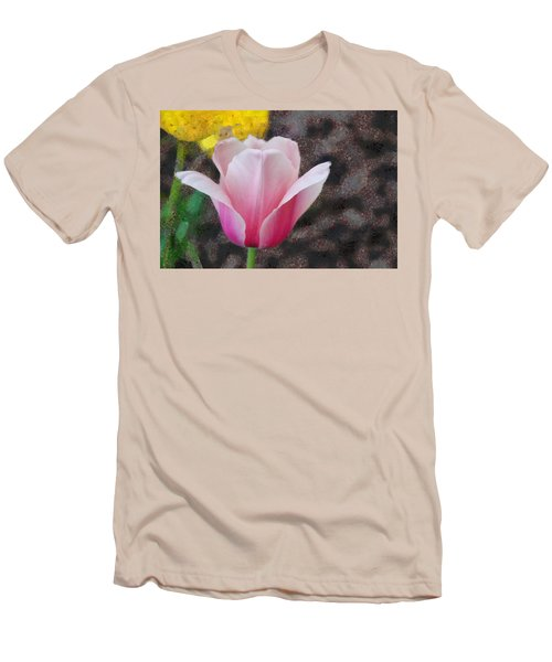 Men's T-Shirt (Slim Fit) featuring the mixed media Bloomin' by Trish Tritz