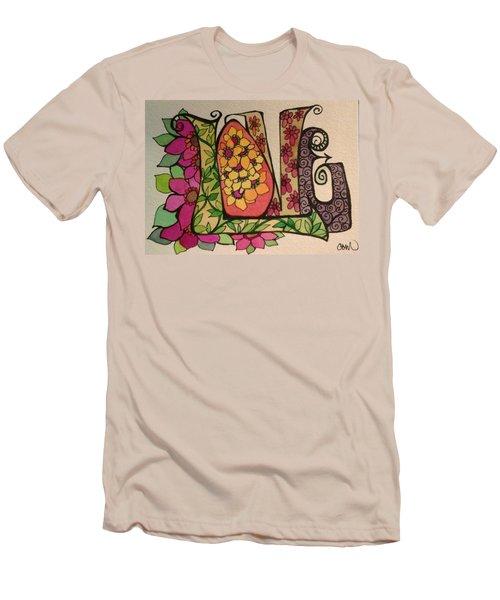 Blooming Love Men's T-Shirt (Slim Fit) by Claudia Cole Meek