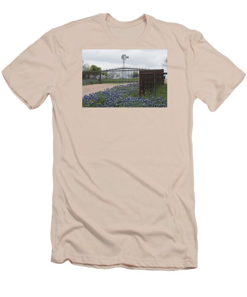 Blue Bonnets By Gate Men's T-Shirt (Athletic Fit)