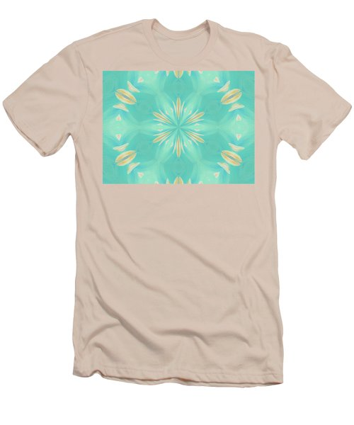 Men's T-Shirt (Athletic Fit) featuring the digital art Blue Coffee by Elizabeth Lock