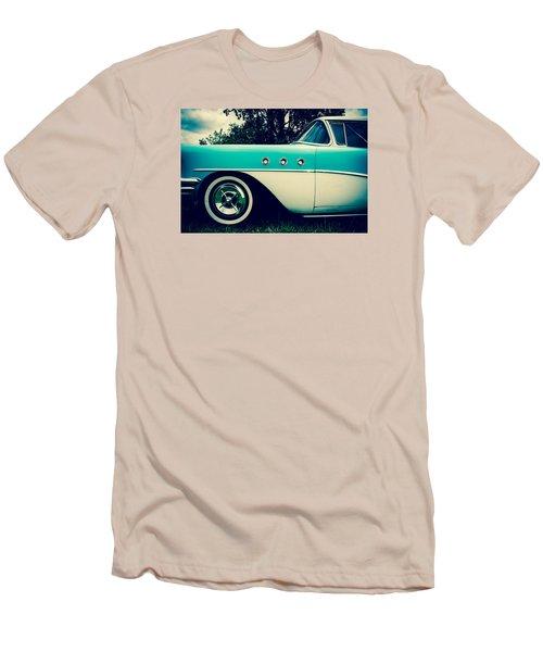 Blue  Men's T-Shirt (Slim Fit)