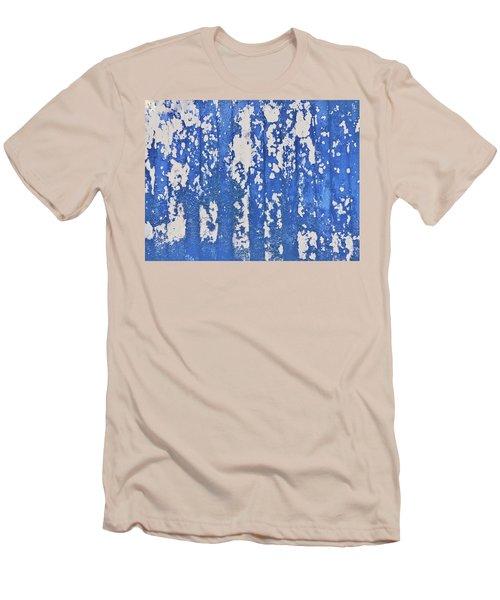 Blue Painted Metal Men's T-Shirt (Athletic Fit)