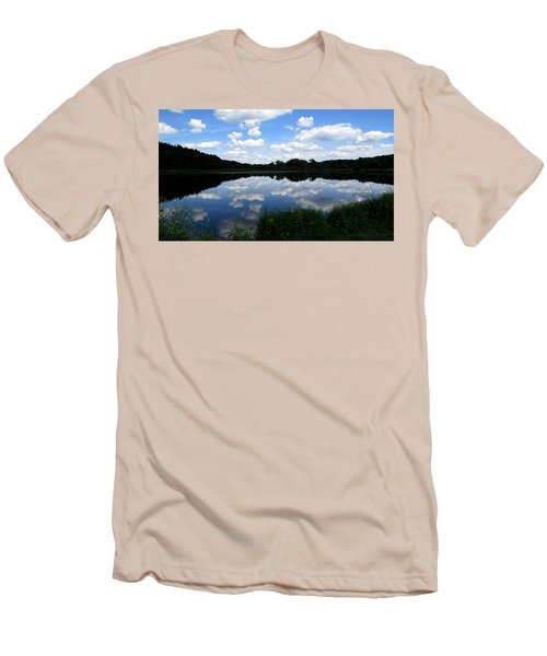 Blue Skies At Cadiz Springs Men's T-Shirt (Slim Fit) by Kimberly Mackowski