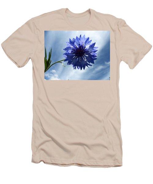 Blue Sky Blue Flower Men's T-Shirt (Slim Fit) by Tina M Wenger