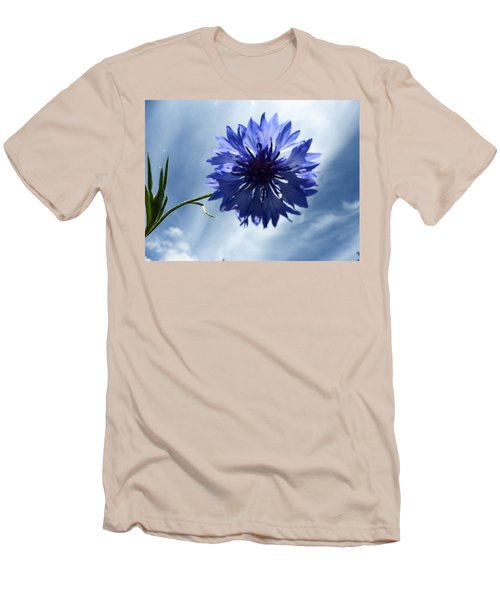 Blue Sky Blue Flower Men's T-Shirt (Athletic Fit)