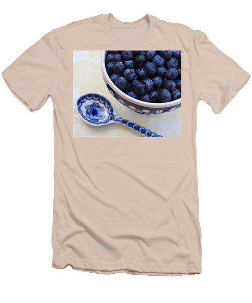 Blueberries And Spoon  Men's T-Shirt (Athletic Fit)