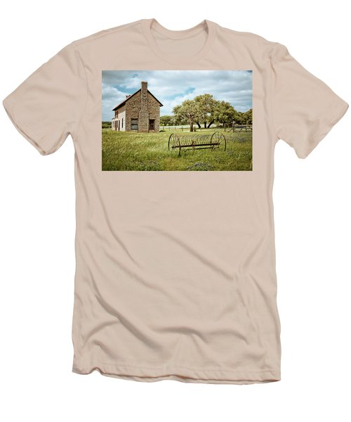 Men's T-Shirt (Slim Fit) featuring the photograph Bluebonnet Dreams by Linda Unger