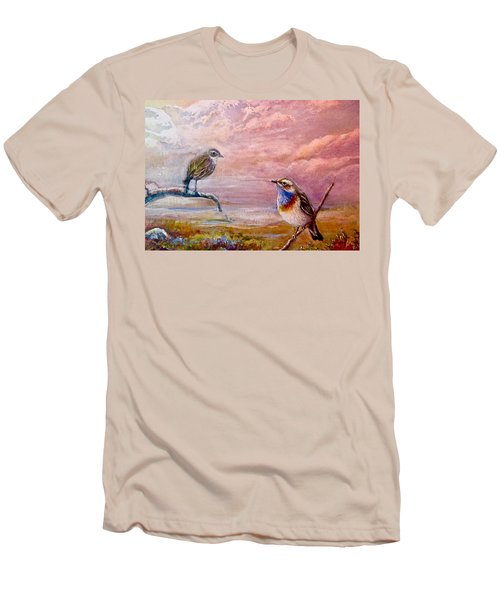 Bluethroat On The Tundra #2 Men's T-Shirt (Slim Fit) by Patricia Schneider-Mitchell