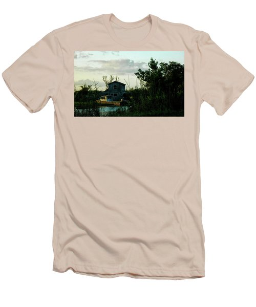 Men's T-Shirt (Slim Fit) featuring the photograph Boat House by Cynthia Powell
