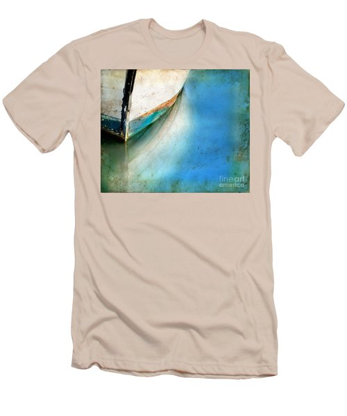 Bow Of An Old Boat Reflecting In Water Men's T-Shirt (Slim Fit) by Jill Battaglia