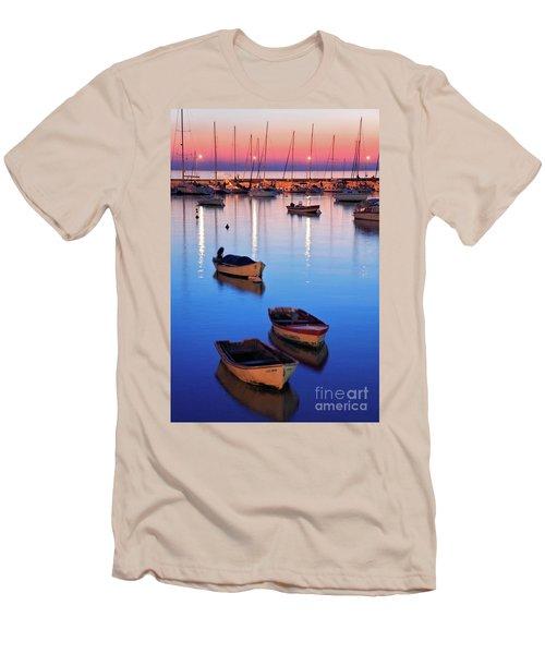 Men's T-Shirt (Slim Fit) featuring the photograph Boats by Bernardo Galmarini