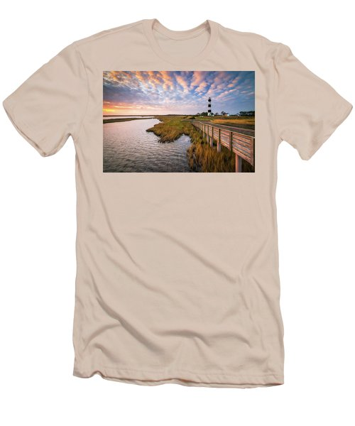 Bodie Island Lighthouse Outer Banks North Carolina Obx Nc Men's T-Shirt (Athletic Fit)