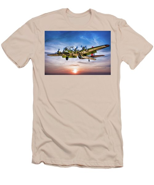 Men's T-Shirt (Athletic Fit) featuring the photograph Boeing B17g Flying Fortress Yankee Lady by Chris Lord