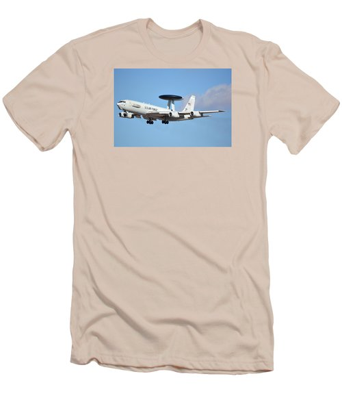 Boeing E-3b 71-1407 Sentry Phoenix Sky Harbor January 9 2015 Men's T-Shirt (Slim Fit) by Brian Lockett