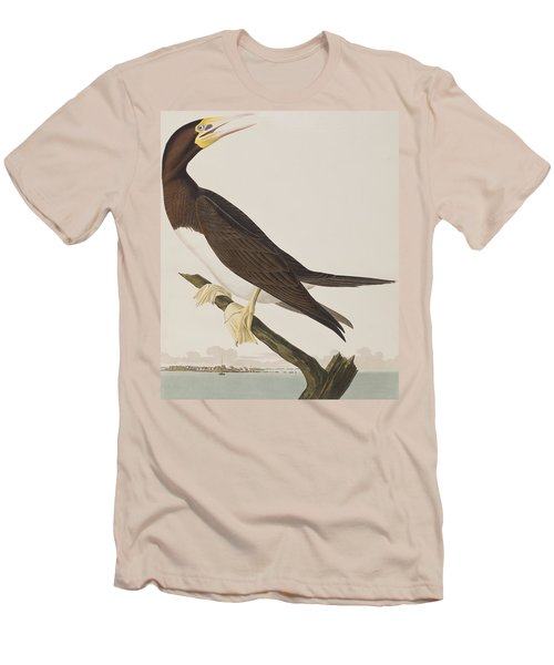 Booby Gannet   Men's T-Shirt (Slim Fit) by John James Audubon