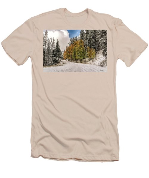 Boreas Pass Road Aspen And Snow Men's T-Shirt (Athletic Fit)