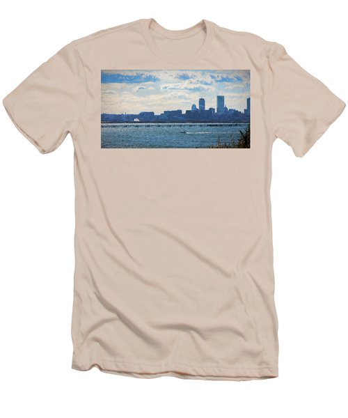 Boston Skyline From Deer Island Men's T-Shirt (Athletic Fit)