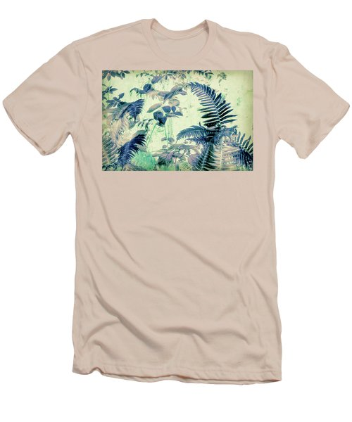 Men's T-Shirt (Slim Fit) featuring the mixed media Botanical Art - Fern by Bonnie Bruno