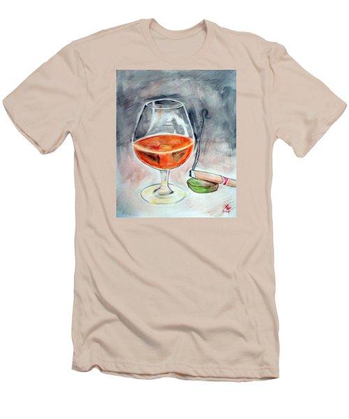 Bourbon And Smoke Men's T-Shirt (Slim Fit) by Loretta Nash