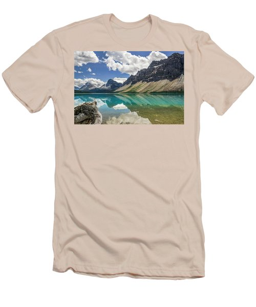 Men's T-Shirt (Slim Fit) featuring the photograph Bow Lake by Christina Lihani