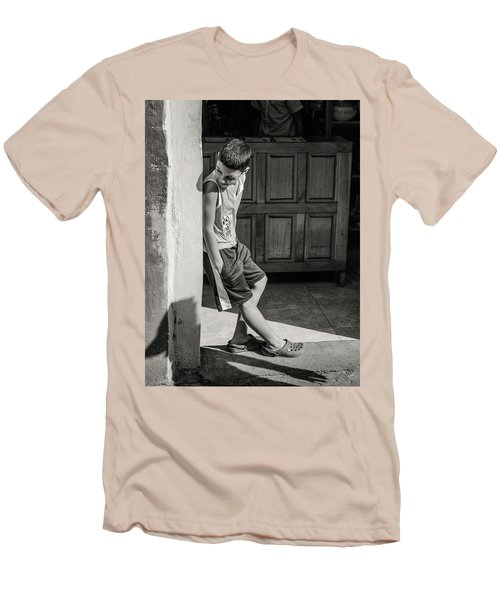 Boy On The Corner Men's T-Shirt (Athletic Fit)