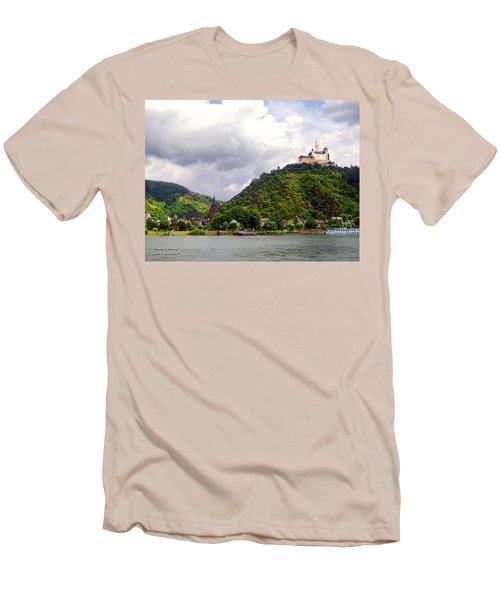 Men's T-Shirt (Slim Fit) featuring the photograph Brambach Germany by Joan  Minchak