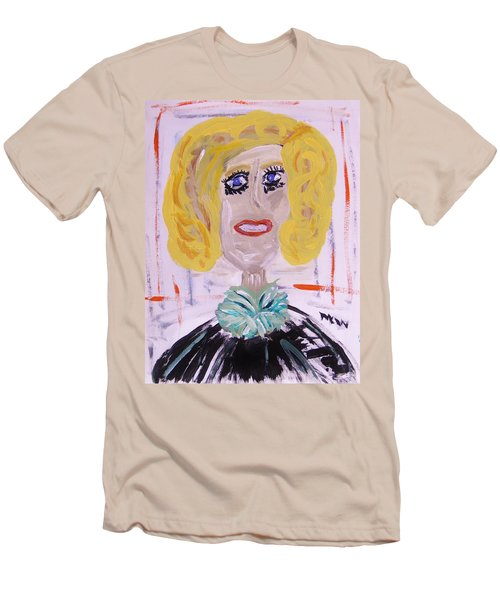 Men's T-Shirt (Slim Fit) featuring the painting Brash Blond by Mary Carol Williams