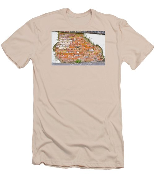 Men's T-Shirt (Slim Fit) featuring the photograph Brick And Mortar by Wanda Krack