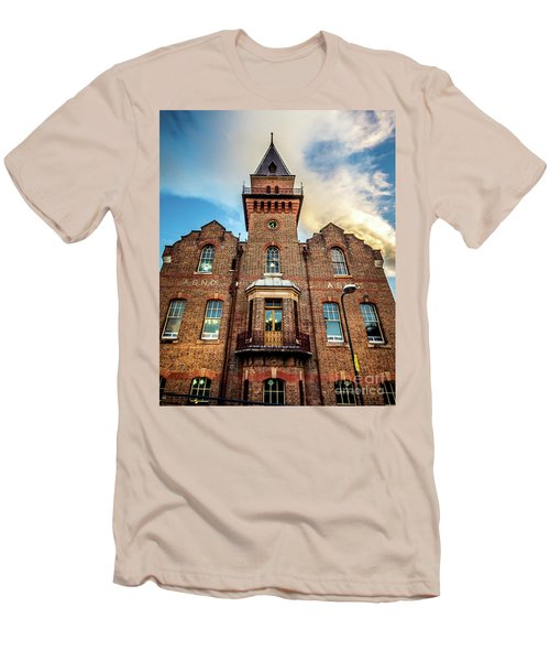 Men's T-Shirt (Slim Fit) featuring the photograph Brick Tower by Perry Webster
