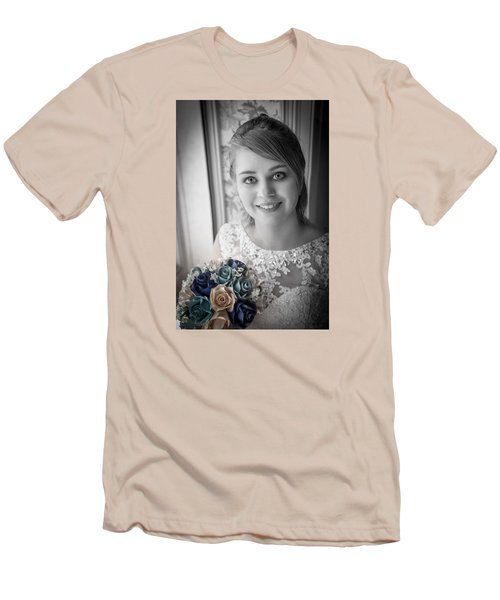 Men's T-Shirt (Slim Fit) featuring the photograph Bride At Window by Ray Congrove